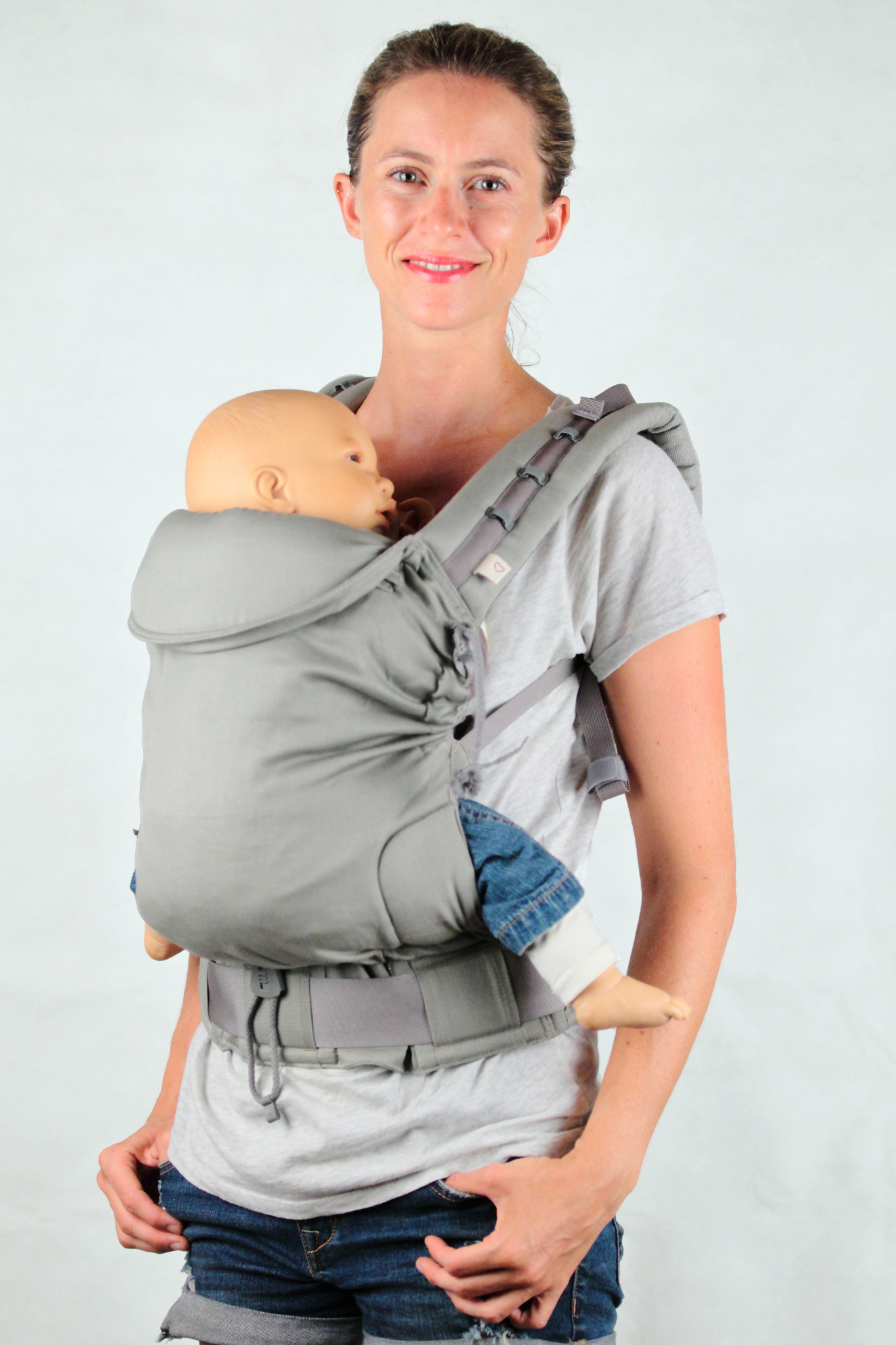 Porte-bébé physiologique   écharpe de portage, sling, Mid-Taï, M-Taï ... 3f37b7622cd